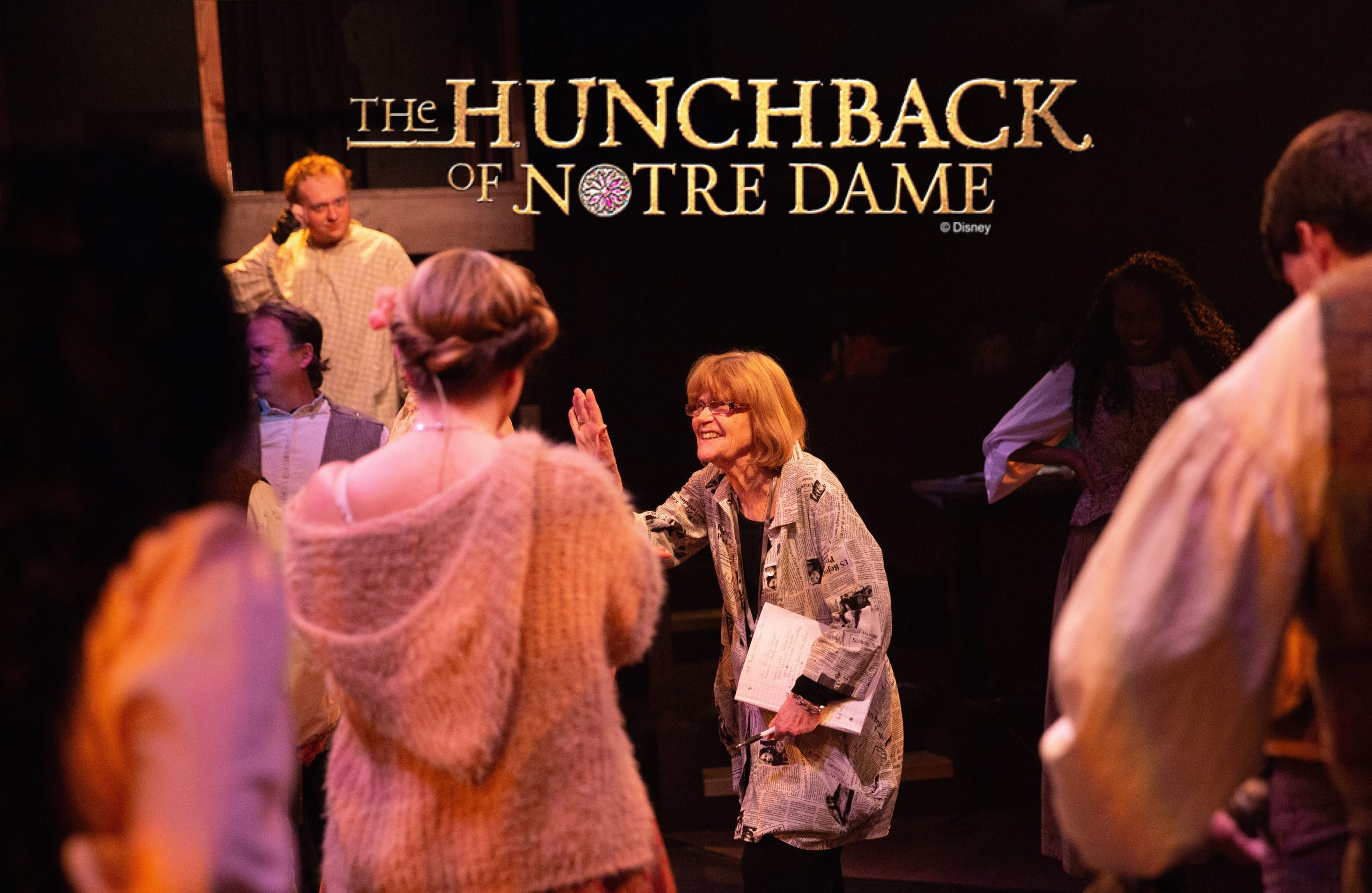 Toby Orenstein directing Hunchback of Notre Dame 2019
