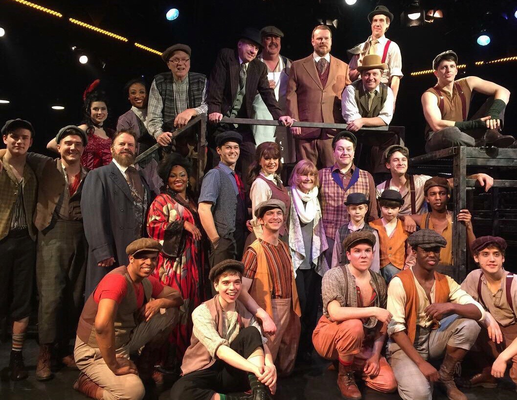 Toby Orenstein with the cast of NEWSIES 2018